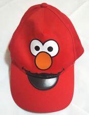 Elmo Sesame Street Face Baseball Cap Hat Ajustable Toddler Embroidered Red