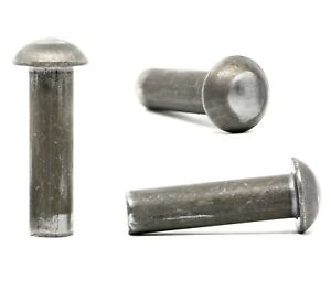 Solid Steel Dome Head Rivets Round Head Rivets  -  2mm 3mm 4mm 5mm 6mm