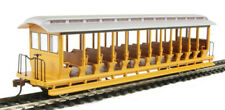 Bachmann HO 19348 Unlettered Yellow/Silver Jackson Sharp Open-Sided Excursion Ca