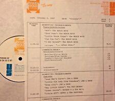 RADIO SHOW:CRUISIN 10/2/87 BEACH BOYS,JAN & DEAN, CHUCK BERRY,CDR CODY,PLAYMATES