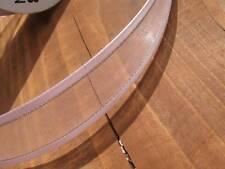 Larghezza 23 mm Rosa Satin Edged in Organza e nastro con lurex argento - 2 metri lunghezza
