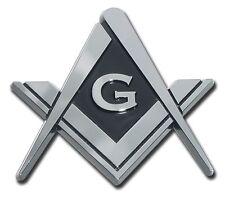 Mason Square Compass Chrome Plated Car Auto Truck Emblem (NEW)