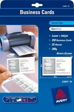 Avery White Business Cards C32011-25