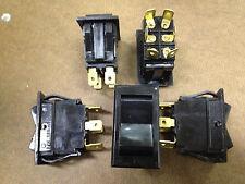 "Lot- 5 x Rocker Switches 10A 250VAC SPDT 1/4"" tabs -NOS"