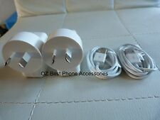 2 x HQ USB AC Wall Charger + 2 Cables for  iPhone 4, 4s, 3GS and iPod