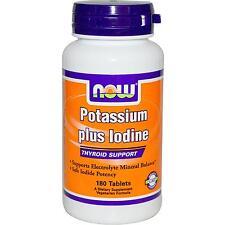 Potasio Plus yodo - 180 Tabletas por Now Foods-Suplemento mineral esencial
