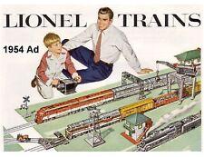 1954 Lionel Train AD  Refrigerator  Magnet