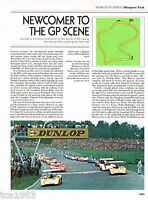 vintage MOSPORT PARK GP Circuit History Article/Pictures/Photos