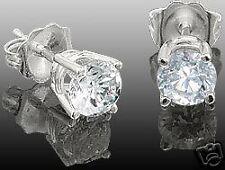 14K WHITE GOLD  DIAMOND STUD EARRINGS 1/2CTTW round cut.
