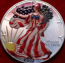 Uncirculated Colorized 2002 American Eagle Silver Dollar