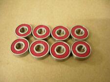 (Set Of 8) Skateboard Bearings 608-2Rs Abec 5
