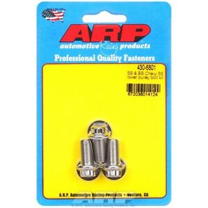 ARP 430-6801 Small & Big Block Chevy Stainless Steel lower pulley bolt kit