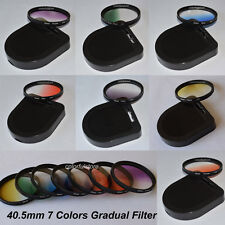 40.5 40.5mm 7x Graduated Gradual Red Purple Green Orange Yellow Blue Gray Filter