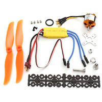RC 2200KV Brushless Motor 2212-6 + 30A ESC + Propeller For RC Plane Helicopter !