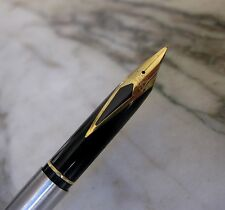 RARE STYLO PLUME SHEAFFER TARGA SLIM METAL CHROME - PLUME EN PL. OR 23 CARATS