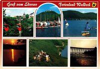 Gruß vom Edersee , Ferienland Waldeck , Ansichtskarte , gelaufen
