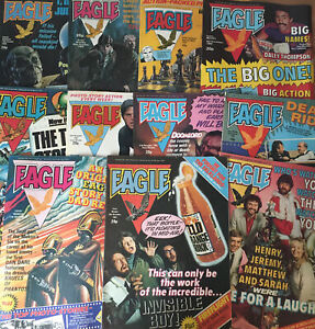 Vintage EAGLE (Dan Dare) Comic Bundle Joblot From 1982 x 11 Issues (c)