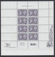 SIGNED = LR MiniSheet from UNCUT sheet # 2540ai = QUEEN ELIZABETH II Canada 2012
