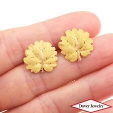 Mario Bucellati Vintage 18K Yellow Gold Leaf Branch Cufflinks 7.3 Grams NR