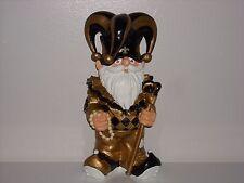 NEW ORLEANS SAINTS Garden Gnome Figurine Mardi Gras Thematic Mascot Jester New**