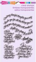 Thoughtful Wishes Sentiments Stampendous Clear Acrylic Stamp Set SSC1158 NEW!