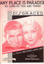"Disgraced ""Any Place Is Paradise"" Bruce Cabot Helen Twelvetrees"