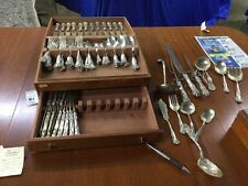 International Stratford Sterling Silver Flatware 98 Pcs With Serving Pcs