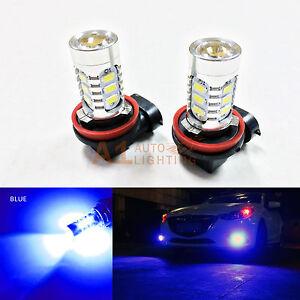 2x Blue H11 H9 H8 15w High Power Bright Car LED Bulbs 5730 15-SMD Fog light