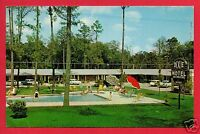 ADEL GA DIXIE MOTEL OLD CARS POOL LAWN CHAIRS  MR. MRS. VERNON SMITH   POSTCARD