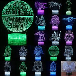 3D LED Star Wars Todesstern Star 7 Farbwechsel Nachtlicht Party Lampe Geschenk