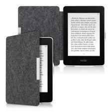 Funda para Amazon Kindle Paperwhite gris oscuro fieltro flip cover case eReader