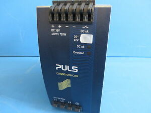 Puls Dimension QT20.361 DIN Rail Power Supply - In: 3AC 380-480V Out: DC 36-42V