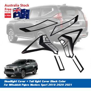 Headlight + Tail light Cover Trim Fit For Mitsubishi Pajero Sport 2019-2021