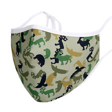 Kids Animal Camouflage Face Mask  Filter Pouch and Adjustable