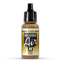 Vallejo Model Air 71.278 Sand Yellow RLM79 - 17ml Acrylic Airbrush Paint