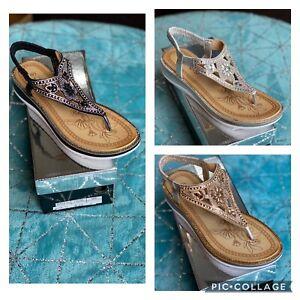 Kelsi Women's Diamanté Sandals Toe Piece