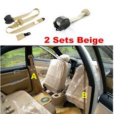 2 Sets Safety 3 Point Retractable Car Seat Lap Belt Adjustable Kit Universal