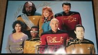 Star Trek The Next Generation TNG Signed Autographed 16x24 Photo FULL CAST
