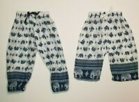Infant Baby THAI FISHERMAN PANTS ELEPHANT Rayon Like NWOT 0-18 M USA SHIP AQUA
