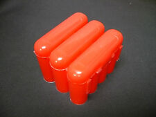 Universal Interlocking Battery Carrier Holder Case CR123A AA AAA - 3 PACK RED