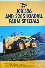 Original JCB 526 & 526S Loadall Farm Special Promotion Brochure English Text