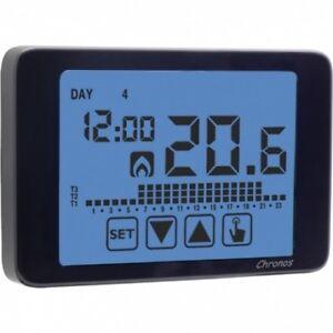 Cronotermostato a radiofrequenza touch screen CHRONOS RF NERO  - VEMER VE 485900