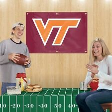 Tailgate Party Kit VIRGINIA TECH HOKIES From PARTY ANIMAL W/Banner & Tablecloth