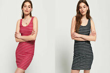 Superdry Womens Sienna Chevron Textured Mini Dress