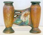 1920's Antique ROSEVILLE POTTERY Arts Crafts DAHLROSE #79-6 Double Bud Vase