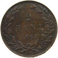 ROMANIA 2 BANI 1867 WATT RARE #s36 709