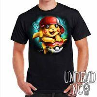Pokemon Pikachu Pokeball - Mens T Shirt