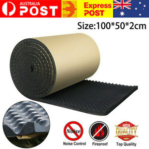 Sound Proofing Panels Wave Foam Insulation Acoustic Noisy Absorption Adhesive AU