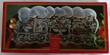 "Gorham ~ ""North Pole Express"" ~ 13½"" CRYSTAL SERVING TRAY ~ in Original Box"