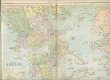 Antique map c1870 Showing Ancient Greece from Collins Students Atlas vgc